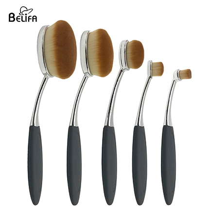 5pcs oval makeup brush set