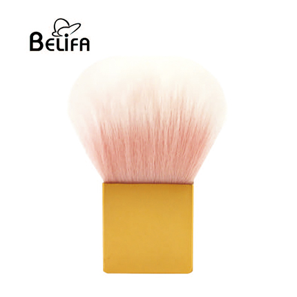 Square synthetic kabuki powder makeup brush